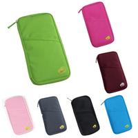 2015 new solid travel accessories passport holder covers business purse travel bags organizer long wallet passport wallet