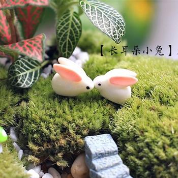 Продажа 2 конструкции милые животные мини кролик 1.5 см волшебный сад миниатюры гном мосс террариум домашнего декора ремесла бонсай домашнего декора для DIY