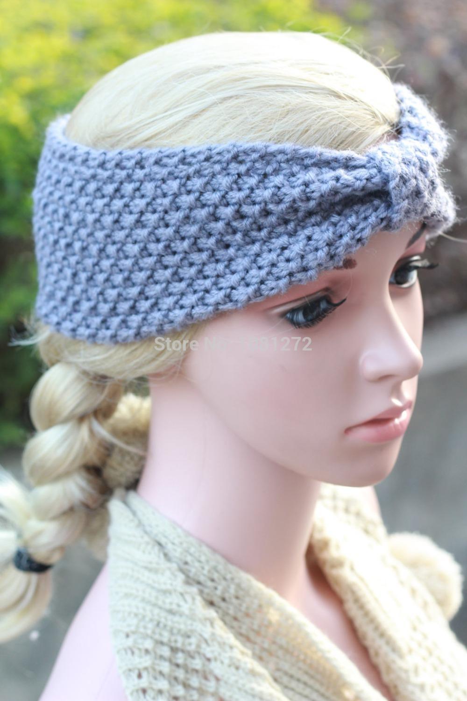 Fashion headband Head wrap,Kont Knit Headband gray headband pattern Winter warmer,Hair Accessories hair accessory7013(China (Mainland))