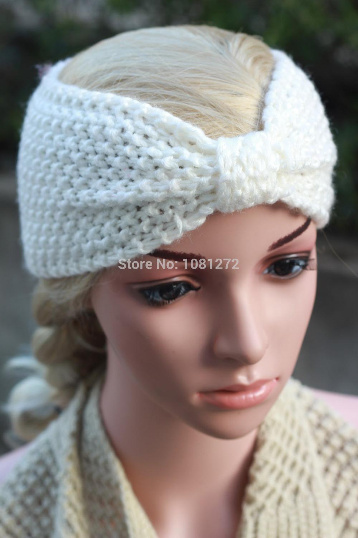 Fashion headband white headband ,Kont Knit Headband pattern Headband Winter warmer,Hair Accessories hair accessory7013(China (Mainland))