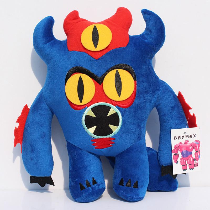 "EMS 50pcs/lot 7""18cm Big Hero 6 Plush Doll Baymax's friend Blue Fred Plush Toys Soft Baby Toy Wholesale(China (Mainland))"