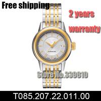 T085.207.22.011.00 women fashion Casual watch luxury brand Automatic self-wind relogios femininos steel belt mechanical watches