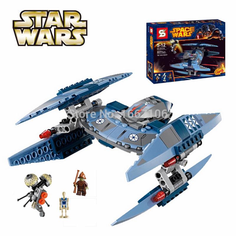 221pcs STAR WARS Vulture Droid Battle Clone War Building Blocks Set Minifigures Figure Toys Compatible With Lego 75041(China (Mainland))