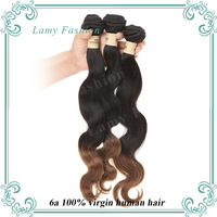 Brazilian Ombre Virgin Hair Body Wave Human Hair Products Two Tone 1B/30 Ombre Hair Extensions Top 6A Unprocessed Human Hair