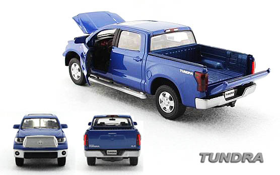 BLUE Toyota 1:32 SCALE PICKUP TRUCK ALLOY TOY CAR COLLECTION PULL BACK WITH SOUND & FLASH LIGHT(China (Mainland))