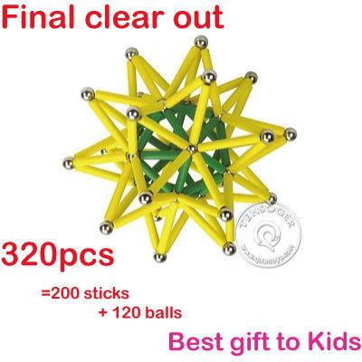 Free shipping magnetic stick DIY toys kids building blocks 320pcs QXI-320B(China (Mainland))