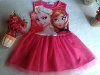CAN CHOOSE SIZE Soft Girl Vest Dress with Tutu Skirt Chiffon Dress Elsa Dress Children Summer Dress Sleeveless