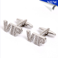 2015 Fashion Sliver VIP cufflinks Men's accessories