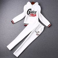 2014 news high quality  Letters plus velvet hooded sweater, trousers leisure sports suit