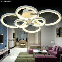 Modern 6 Round Rings LED Ceiling Light  Acrylic LED Lustres for Home Decor Energy Saving Light Fixture MD3161
