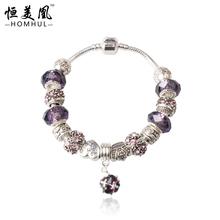 Free Shipping New 925 Sterling Silver jewelry strand bracelet Fit European pandora bracelets bangles DZ06