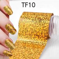 1Pcs New Useful Big size 130*4cm Fashion DIY Gold Nail Art Stickers Polish Foil gel Tips Gitters Decoration Hot Sale 06020401