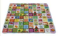 180*150cm Baby Fruit Letter play Mat Climb Blanket Creeping Puzzle Pad Crawling Mat  270367
