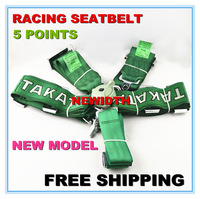 "FIA 2018 Homologation racing Harness Racing Satefy Seat Belt width 3""  5Point free shipping"