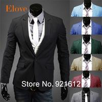 2015 spring fashion man pure cotton slim fit business suit/Men's leisure Blazers/Men's joker slim fit leisure coat/male jackets