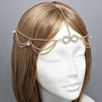 Fashion Hair Chain Head Band Chains Tassels Fringes hairwear  Headwear Free Shipping SV14 SV014775
