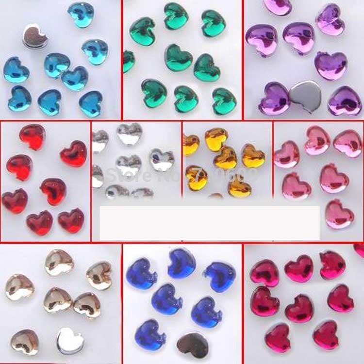 Free shipping 1000pcs 2.5mm red sweet heart resin super shine nail glitter stone nail art accessories(China (Mainland))