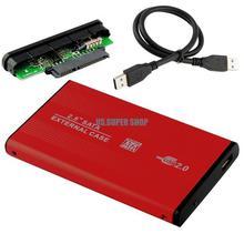 """Red HDD Hard Drive Disk Mobile External Enclosure Box Case 2.5"""" SATA USB 2.0 EL5018(China (Mainland))"""