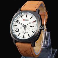 Curren 2015 fashion Business Quartz watch Men sport Watches Luxury Military Watches Men Leather Strap male army wristwatch