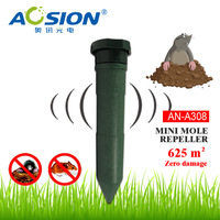 Aosion AN-A308 Outdoor Garden Battery plastic rodent mole repeller emitting sound and vibration to repel Mole Pest control