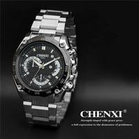 2015 New Luxury Brand Watch Men Fashion Watch Quartz Business Casual Wristwatch Full Steel Men Watch Men Gift Free Shipping