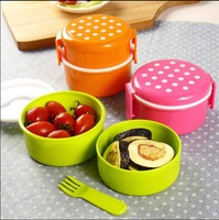 Mini pot round rice boll case Kids Portable Sushi Lunch box stackable Fruit snack Box containers baby food storage containers