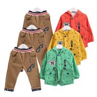 2015 baby boys set children clothing new Korean boy child three-piece suit baby boy clothing free shipping