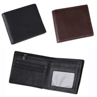 Free Shipping!New Vintage High Quality Men Wallets Genuine Leather Short  2 Colors Wallets  Men Purses Wallets  C3340