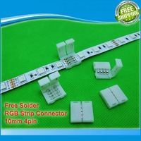 5pcs/lot, 4pin LED Strip connectors 10mm PCB board wire connection for 5050 RGB color strip