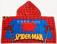 Hooded Towel Cotton Towels Bathroom Shower Set Accessories Rectangle Spider-Man Bath Towel Home Gift Children toalha infantil