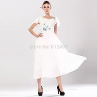 2015 summer women's print vintage fresh fairy elegant of chiffon party dresses long dress Summer