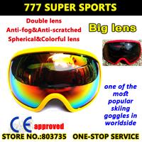 2015 Newest Premium Skiing Goggles Polarized Snowboard Eyewear Motorcycle Gafas  Snow Sport Gear