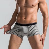 100% Cotton Hot  mens underwear boxers Shorts Stripes U sac Men's Antibacterial Underpants casual masculinas underwear OE-15