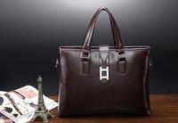 2015 NEW Arrival genuine leather handbag elite men business laptop bag briefcase shoulder bag