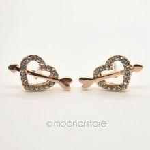 2015 Fashion fashion accessories Cupid love an arrow through a heart Stud Earrings Delicate earrings FYSS0003
