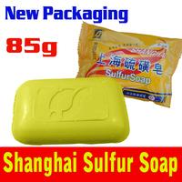 2015 Hot New Packaging Shanghai Sulfur Soap Skin Conditions Acne Psoriasis Seborrhea Eczema Anti Fungus 85g Cheapest