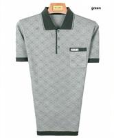 new fashion men's summer print silk short sleeve polo t-shirt turn-down collar tees tshirts  plus size #123