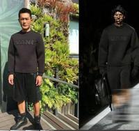 2015 newest hip hop runway style unisex men wang scuba cotton sweatshirt pullover free shipping