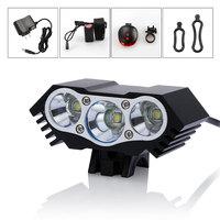2015 New 6000Lumen 3x CREE XM-L XML T6 LED Bike light Bicycle Head Front light Lamp Headlamp Headlight 8.4v Battery Freeshipping