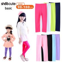 Mädchen hose neue kommen süßigkeiten farbe mädchen leggings kleinkind leggings klassischen 2-13y kinder hose baby kinder leggings(China (Mainland))