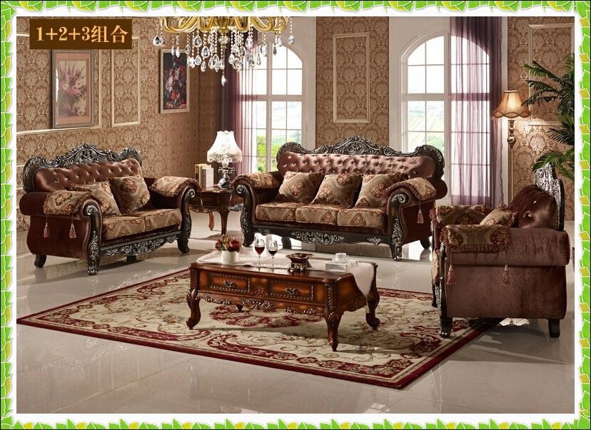 Luxury drilling set sofa flocking living room sofa American style(China (Mainland))