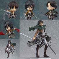 2015 New Anime Attack on Titan Levi Mikasa Figma PVC Action Figure Shingeki no Kyojin Rivaille Scouting Legion Model Toys Gifts