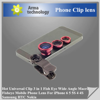 2015 HOT Universal New 180 Degree Fish Eye Lens Clip for iPhone4 4s 5 5s Samsung S4 Note3 Nexus5 HTC