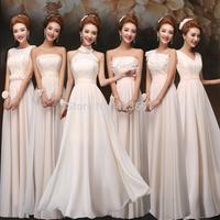 Top Fashion Vestidos De Fiesta Charming Elegant White Lace Chiffon Long Formal Evening Dress Gown Wedding Party Dresses A1