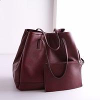 Hot  Sale 2015 High Quality Winter New Fashion Women Leather Handbags Shoulder Bag Zimu Bucket Bag designer handbags