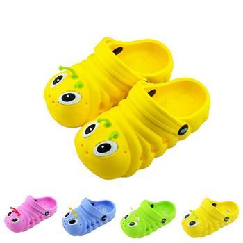 Бесплатная доставка детская обувь новое поступление дети Slodes EVA милый мультфильм гусеницы дышащей обуви мальчик девочка одежда для пляжа
