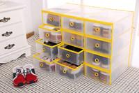 Women Men Shoe Organizer New Style Plastic Clear Shoe Storage Box Home Drawer Storage Box Shoe Cabinet Shoebox Shoescase