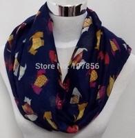 2015 new style scarves dog  print  infinity scarf animal print scarf