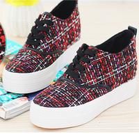2015 Casual women shoes wedge muffin bottom spring platform sneaker sapatilhas femininos women shoes33