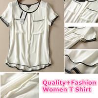 2015 Casual Women T Shirt Chiffon Quality Desigual Tropical Roupas Femininas Camisas Female Summer Clothing Women Tops Tee Shirt